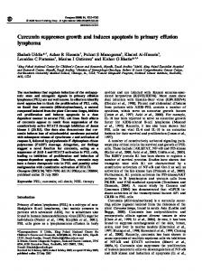 Curcumin suppresses growth and induces apoptosis in primary ...