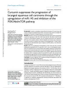 curcumin suppresses the progression of laryngeal ...