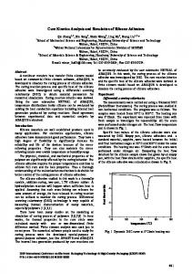 Cure Kinetics Analysis and Simulation of Silicone ...