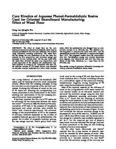 Cure kinetics of aqueous phenol-formaldehyde resins used for ...