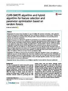 CURE-SMOTE algorithm and hybrid algorithm for ... - Semantic Scholar