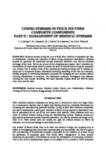 curing stresses in thick polymer composite components part ii - ICCM ...
