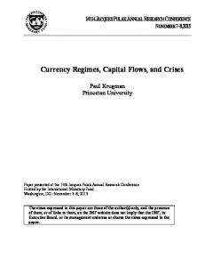 Currency Regimes, Capital Flows, and Crises - IMF