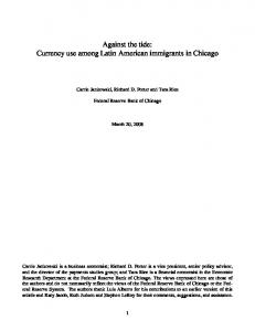 Currency use among Latin American immigrants in Chicago - CiteSeerX