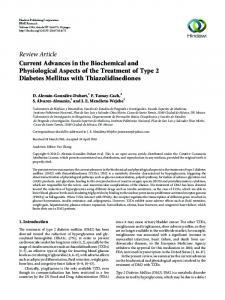 Current Advances in the Biochemical and Physiological Aspects of the ...