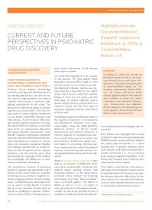 Current and future perspectives in psychiatric drug