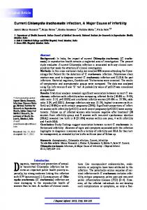 Current Chlamydia trachomatis Infection, A Major ... - BioMedSearch