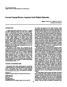 Current Concept Review: Acquired Adult Flatfoot ... - SAGE Journals