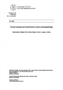 Current concepts and controversies in prion immunopathology