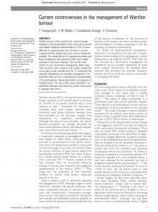 Current controversies in the management of Warthin