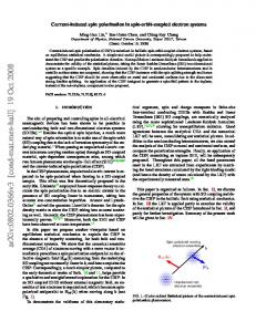 Current-induced spin polarization in spin-orbit-coupled electron systems