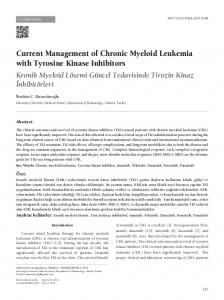 Current Management of Chronic Myeloid