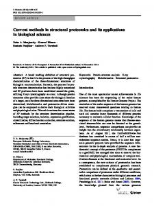 Current methods in structural proteomics and its applications in ...