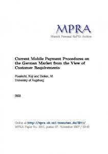 Current Mobile Payment Procedures on the ... - Semantic Scholar