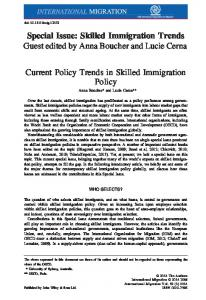 Current Policy Trends in Skilled Immigration Policy - Lucie Cerna