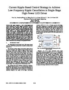 Current-Ripple-Based Control Strategy to Achieve Low ... - IEEE Xplore