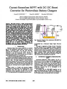 Current-Sensorless MPPT with DC-DC Boost Converter ... - IEEE Xplore