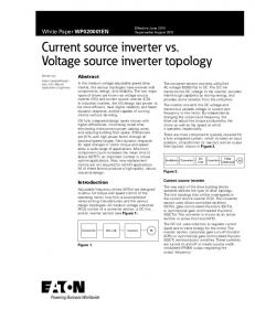 Current source inverter vs. Voltage source inverter ...
