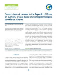 Current status of measles in the Republic of Korea