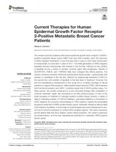 Current Therapies for Human Epidermal Growth