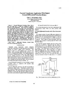 Current transformer application with digital ground ... - IEEE Xplore