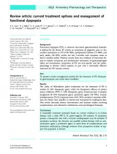 pathophysiological concepts of functional dyspepsia and irritable