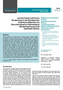 Current Trends and Future Perspectives in the Development of ...