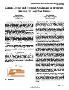 Current Trends and Research Challenges in Spectrum-Sensing for ...
