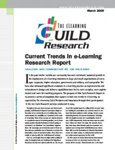 Current Trends in e-Learning Research Report