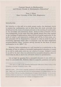 Current Trends in Mathematics and Future Trends in Mathematics ...