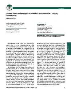 Current Trends of Male Reproductive Health ... - Semantic Scholar