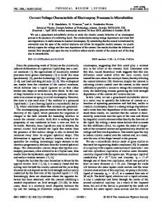 Current-Voltage Characteristic of Electrospray ... - Semantic Scholar