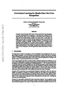 Curriculum Learning for Handwritten Text Line Recognition