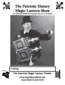 curriculum materials - The American Magic-Lantern Theater