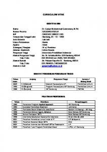 CURRICULUM VITAE - File UPI - Universitas Pendidikan Indonesia