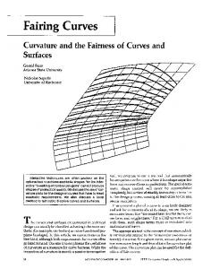 Curvature and the fairness of curves and surfaces