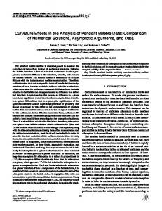 Curvature Effects in the Analysis of Pendant Bubble Data - ScienceDirect