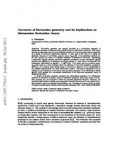Curvature of fluctuation geometry and its implications on Riemannian