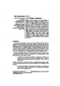 Curve Fitting in Architecture - Springer Link