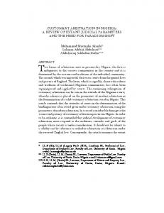 customary arbitration in nigeria - African Journals Online