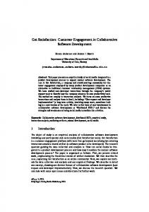 Customer Engagement in Collaborative Software Development