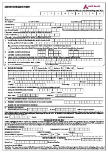 Customer Request Form copy - Axis Bank