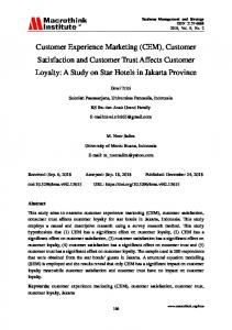 Customer Satisfaction and Customer Trust Affects Customer Loyalty