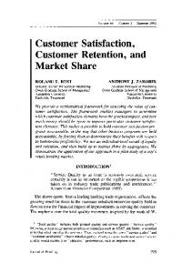 Customer Satisfaction, Customer Retention, and ... - Science Direct