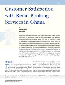 Customer Satisfaction with Retail Banking ... - Wiley Online Library