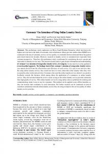 Customers' Use Intentions of Using Online Laundry Service
