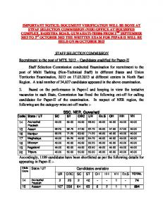 tgc-118) - list of candidates shortlisted for ssb interview