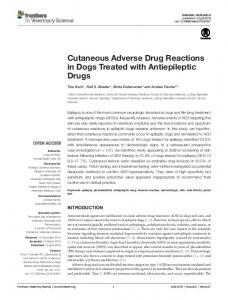 Cutaneous Adverse Drug Reactions in Dogs ... - Semantic Scholar