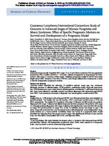 Cutaneous Lymphoma International Consortium ...