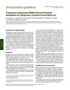 Cutaneous melanoma: ESMO Clinical Practice Guidelines for ...